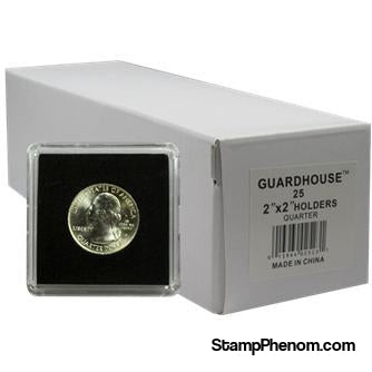 Quarter Tetra 2x2 Tetra Snaplock Coin Holder - 25 per pack-Guardhouse Tetra Snaplocks-Guardhouse-StampPhenom