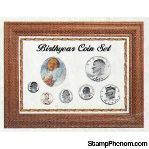 Solid Oak Birthyear Coin Frame Cent to ASE - White | Edgar Marcus-Coin Collecting For Kids-Edgar Marcus-StampPhenom