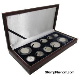 Guardhouse Wood Display Box -GH-W1400: U.S. Gold Type Sets (4S,2M,2L,2XL)-Display Boxes for Round Coin Holders-Guardhouse-StampPhenom