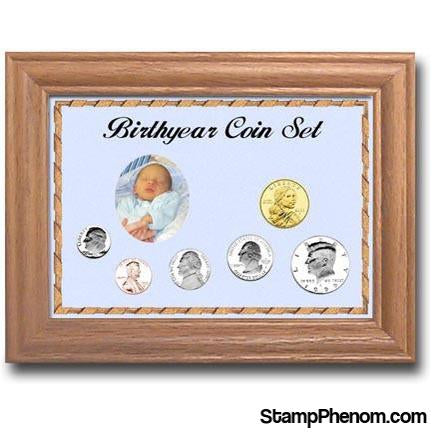 Solid Oak Birthyear Frame Cent thru Large Dollar | Edward Marcus-Coin Collecting For Kids-Edgar Marcus-StampPhenom