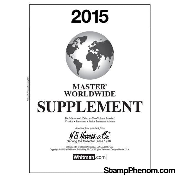 2015 Master Worldwide Supplement-Album Supplements-Whitman-StampPhenom