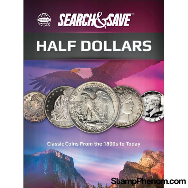Whitman Search & Save - Half Dollars-Coin Collecting For Kids-Whitman-StampPhenom