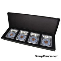 Four Slab Black Chipboard Certified Coin Gift Box-Display Boxes for Certified Coins-Guardhouse-StampPhenom