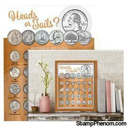 Whitman Deluxe Coin Board: Quarter-Collector Maps, Archives, Kits & Boards-Whitman-StampPhenom