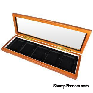Wood Glass-top Display Slab Box - 5 Slab Universal-Display Boxes for Certified Coins-Guardhouse-StampPhenom