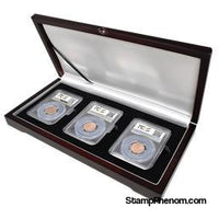 Universal Wood Display Box - 3 Slabs-Display Boxes for Certified Coins-Guardhouse-StampPhenom