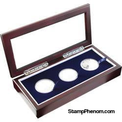 Guardhouse Glass-top Wood Display Box -GH-W1800: (3L)-Display Boxes for Round Coin Holders-Guardhouse-StampPhenom