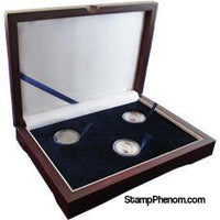 Guardhouse Wood Display Box - GH-W1300 - (3S) Holds 3 Small Guardhouse coin capsules-Display Boxes for Round Coin Holders-Guardhouse-StampPhenom