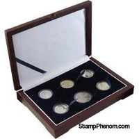 Guardhouse Wood Display Box - GH-W1300 - Direct Fit Mint or Proof Set (Cent through Small Dollar)-Display Boxes for Round Coin Holders-Guardhouse-StampPhenom