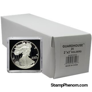 American Silver Eagle 2x2 Tetra Snaplock Coin Holder - 25 per pack-Guardhouse Tetra Snaplocks-Guardhouse-StampPhenom