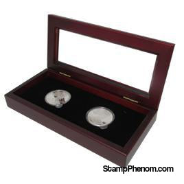 Guardhouse Glass-top Wood Display Box -GH-W1800: (2L)-Challenge Coin Boxes and Displays-Guardhouse-StampPhenom