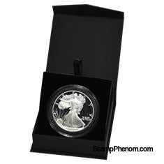 Folding Coin Capsule Box with Magnetic Lid and Stand Insert - Extra Large Capsule-Display Boxes for Round Coin Holders-OEM-StampPhenom