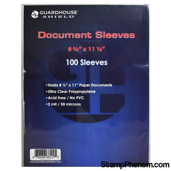 Shield Sleeve for Standard 8.5 x 11 Document-Sleeves, Bags & Boards-Guardhouse Shield-StampPhenom