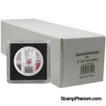 39mm Silver Round 2x2 Tetra Snaplock Coin Holder - 25 per pack-Guardhouse Tetra Snaplocks-Guardhouse-StampPhenom