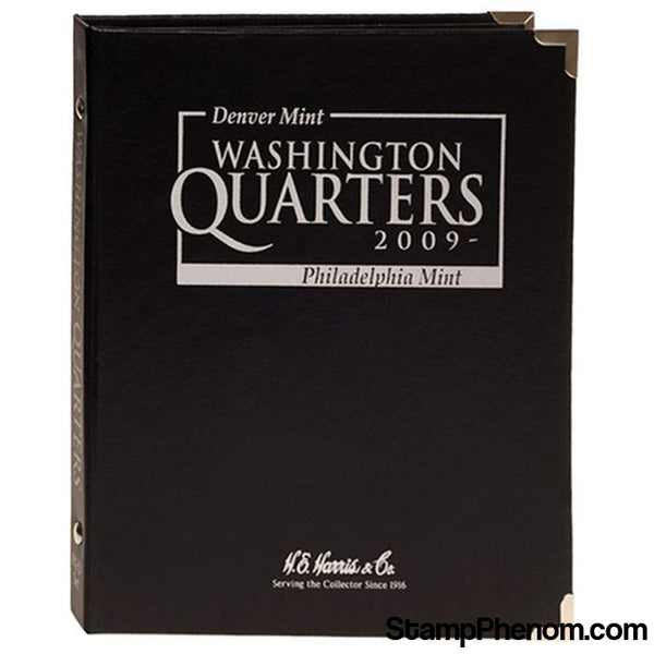 HE Harris & Co State Quarter Trust Territory & DC Album Black-Whitman Albums, Binders & Pages-HE Harris & Co-StampPhenom