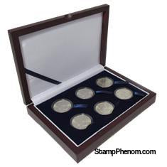 Guardhouse Wood Display Box - GH-W1300: Half Dollars (6M)-Display Boxes for Round Coin Holders-Guardhouse-StampPhenom
