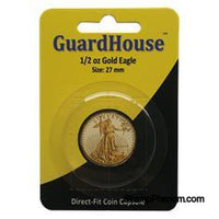 1/2 oz American Gold Eagle Direct Fit Guardhouse Capsule - Retail Card-Guardhouse Coin Capsules-Guardhouse-StampPhenom