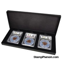 Three Slab Chipboard Certified Coin Gift Box-Display Boxes for Certified Coins-Guardhouse-StampPhenom