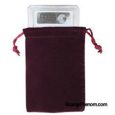 Velvet Drawstring Pouch - 3x4.25 Maroon-Draw String Pouches-Guardhouse-StampPhenom