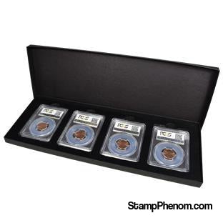 Four Slab Black Chipboard Certified Coin Gift Box-Boxes-Guardhouse-StampPhenom