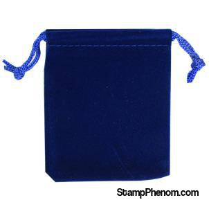 Velvet Drawstring Pouch - 2.75x3.25 Royal Blue-Draw String Pouches-Guardhouse-StampPhenom