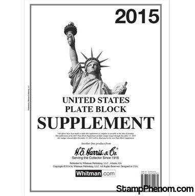 2015 Plate Block Supplement-Album Supplements-HE Harris & Co-StampPhenom