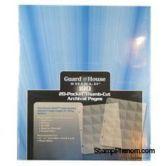 Guardhouse Shield Thumb Cut 20 Pocket (100 pack) Archival Polypropylene Pages-Notebook Pages & Binders-Guardhouse-StampPhenom
