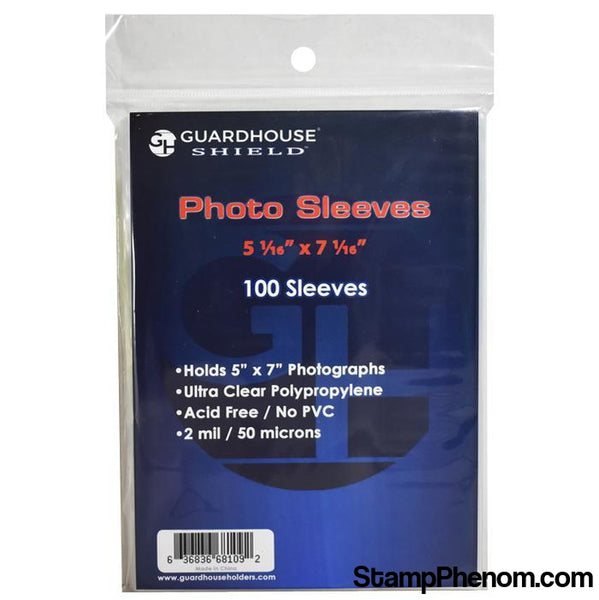 Shield Sleeve for 5 x 7 Photos-Sleeves, Bags & Boards-Guardhouse Shield-StampPhenom
