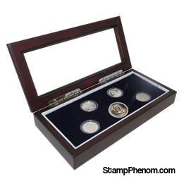 Guardhouse Glass-top Wood Display Box Proof or Mint Set GH-W1800: (4S,M)-Display Boxes for Round Coin Holders-Guardhouse-StampPhenom