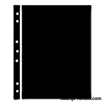 Hagner Stock Sheets 1 Row Black One Sided-Binders & Sheets-Showgard-StampPhenom