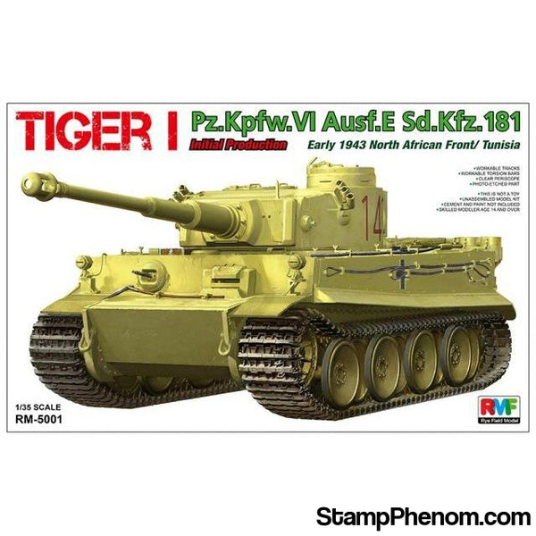 Ryefield - Tiger I Pz.Kpfw.VI Ausf E Sd.Kfz.181 Inital Production Early 1943 North African Front / Tunisia 1:35-Model Kits-Ryefield-StampPhenom