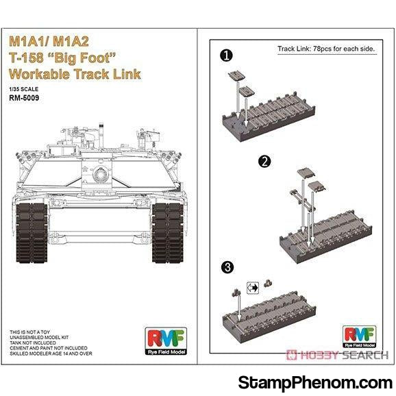 "Ryefield - M1A1 / M1A2 Abrams T-158 ""Big Foot"" Workable Track Link Set 1:35-Model Kits-Ryefield-StampPhenom"