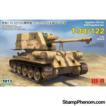 Ryefield - T-34/122 Egyptian 122mm Self-Propelled Gun 1:35-Model Kits-Ryefield-StampPhenom