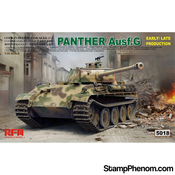 Ryefield - Panther Ausf.G Sd.Kfz.171 (Early/Late Production) 1:35-Model Kits-Ryefield-StampPhenom