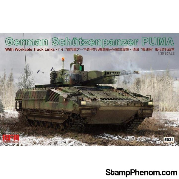 Ryefield - German Schutzenpanzer Puma (with Workable Track Links) 1:35-Model Kits-Ryefield-StampPhenom