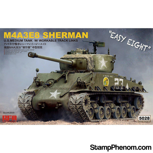 "Ryefield - M4A3E8 Sherman ""Easy Eight"" with Workable Track Links & Torsion Bars 1:35-Model Kits-Ryefield-StampPhenom"