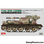 Ryefield - T-34/D30 122mm Syrian Self-Propelled Howitzer 1:35-Model Kits-Ryefield-StampPhenom