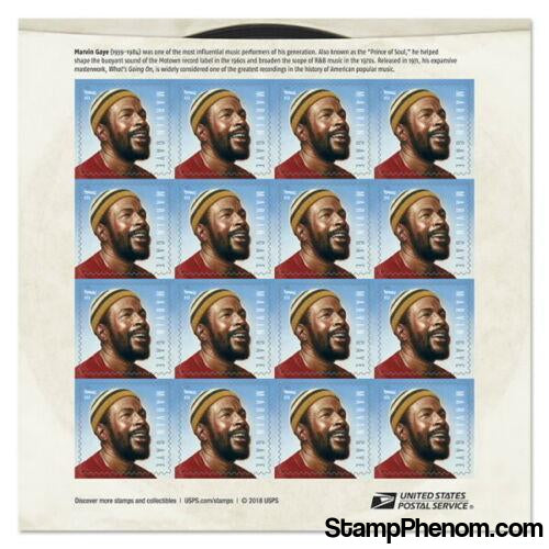 United States of America - Marvin Gaye - Pane of 16-Stamps-USPS-StampPhenom