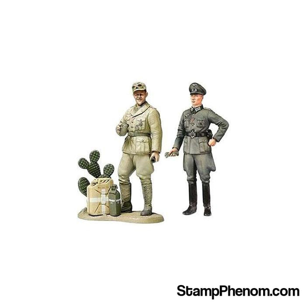 Tamiya - WWII Wehrmacht Officer With Africa Corps Tank Crewman 1:35-Model Kits-Tamiya-StampPhenom