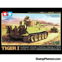 Tamiya - Tiger I Initial Production Africa Corps 1:48-Model Kits-Tamiya-StampPhenom