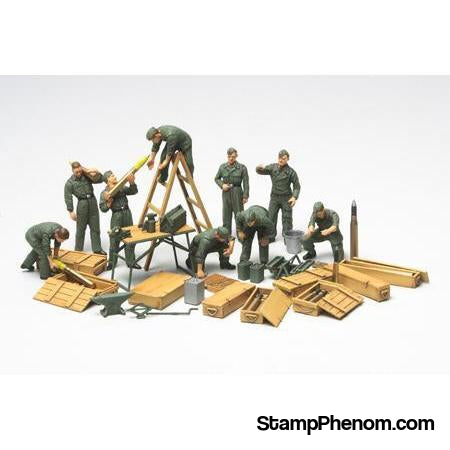Tamiya - German Tank Crew Field Maintenance 1:48-Model Kits-Tamiya-StampPhenom