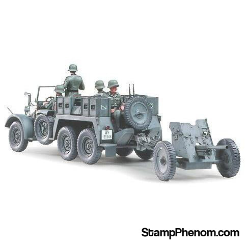 Tamiya - Krupp Towing Truck With 37mm Pak 1:35-Model Kits-Tamiya-StampPhenom