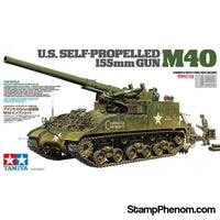 Tamiya - US Self Propelled 155mm Gun M40 1:35-Model Kits-Tamiya-StampPhenom