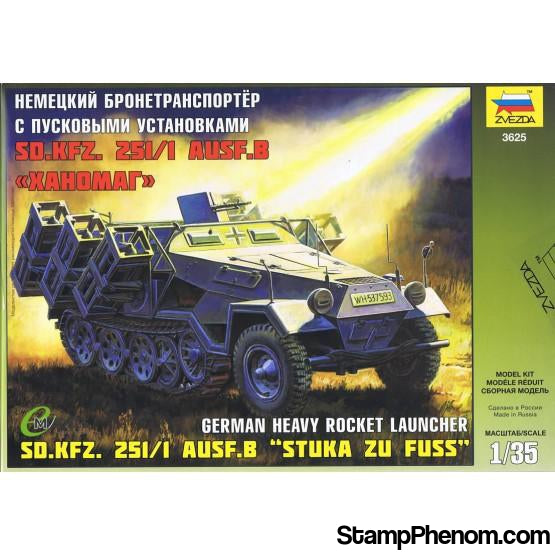 "Zvezda - Sd.Kfz.251/1 Ausf.B ""Stuka zu Fuss"" German Heavy Rocket Launcher 1:35-Model Kits-ZveZda-StampPhenom"