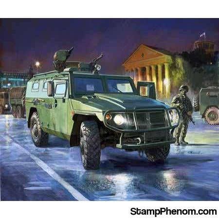 Zvezda - Russian GAZ-233014 Tiger Armored Vehicle 1:35-Model Kits-ZveZda-StampPhenom