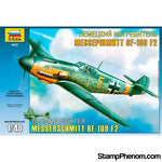 Zvezda - Messerschmitt Bf-109F-2 German Fighter 1:48-Model Kits-ZveZda-StampPhenom