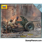 Zvezda - WWII German PaK 36 Anti-Tank Gun with Crew (2) (Snap Kit) 1:72-Model Kits-ZveZda-StampPhenom