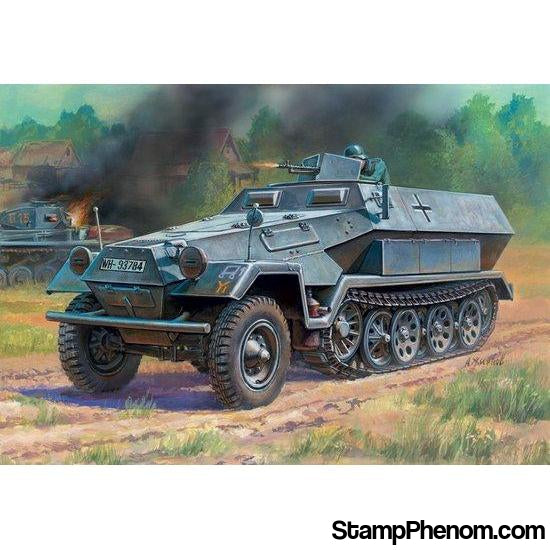 Zvezda - WWII German Sd.Kfz.251/1 Ausf.B Personnel Carrier (Snap Kit) 1:100-Model Kits-ZveZda-StampPhenom