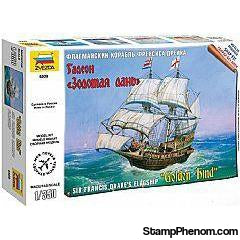 Zvezda - Sir Francis Drake's Golden Hind Sailing Flagship (Snap) 1:350-Model Kits-ZveZda-StampPhenom