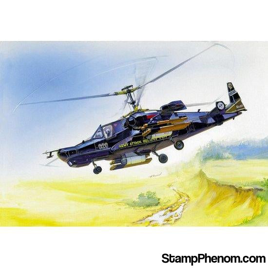 Zvezda - Russian Black Shark Hokum Attack Helicopter 1:72-Model Kits-ZveZda-StampPhenom